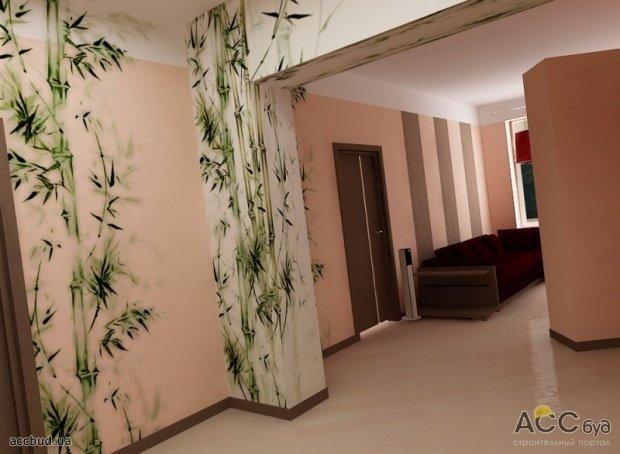 Рисунки на стенах коридора