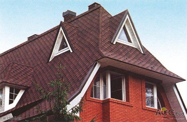 Вальмовая крыша, четырехскатная крыша.