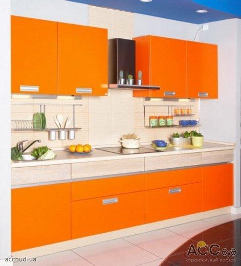 Интерьер кухни в ярких тонах фото