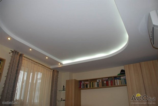 Простые потолки из гипсокартона фото