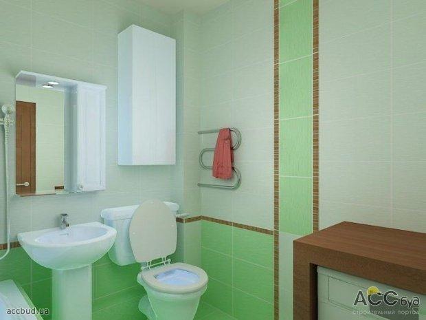 Туалет в зелёном цвете