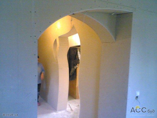 Как сделать арку из гипсокартона в коридоре