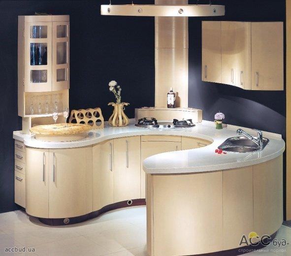 полукруглые фото кухни дизайн