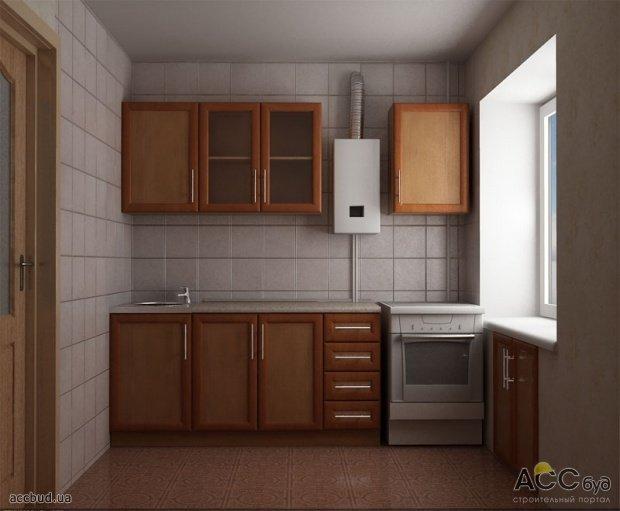Мебель кухня с газовой колонкой 5