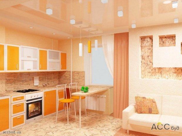 Кухня гостинная фото кухня студия