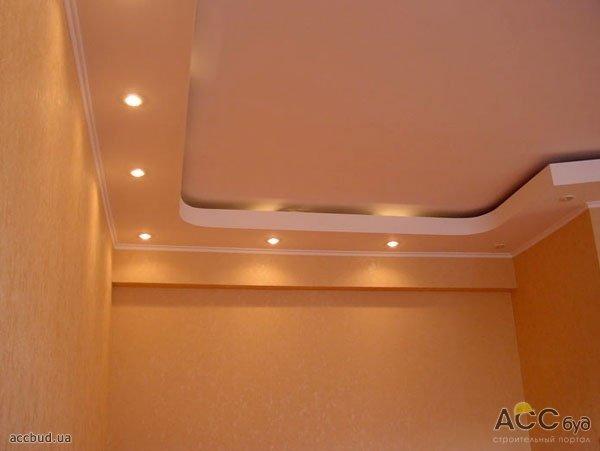 гипсокартон потолок на кухне фото