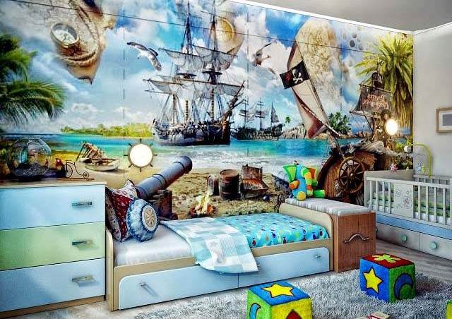 фотообои для детской комнаты обои декор дизайн интерьера