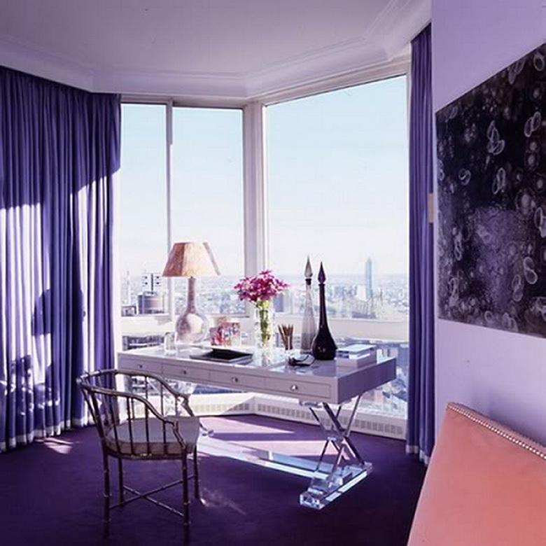 Богатый фиолетовый в интерьере новости ассбуд - строительный.