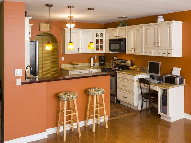 Сочетание цветов в интерьере оранжевый кухня