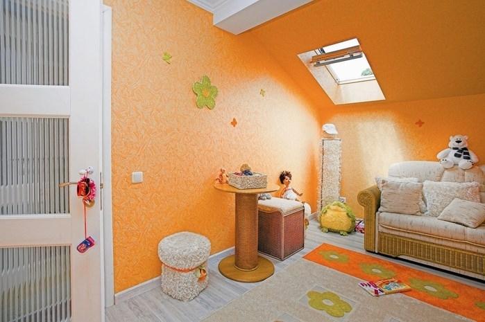 Покраска стен в персиковый цвет