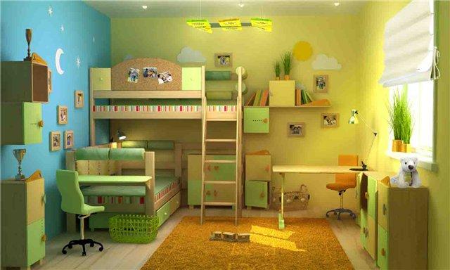 Детской комнаты для разнополых детей