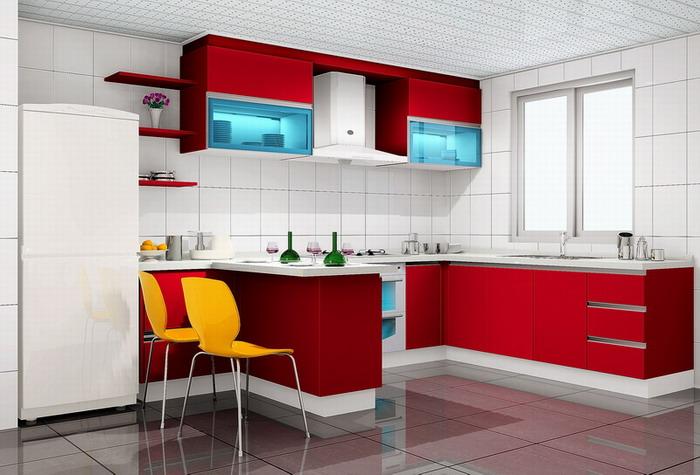 Придумать дизайн кухни совмещенной с