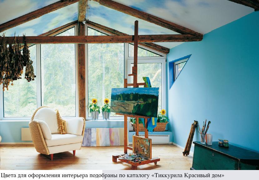 Краска в интерьере дома