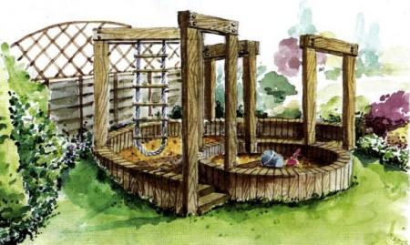 Идея оформления детской площадки