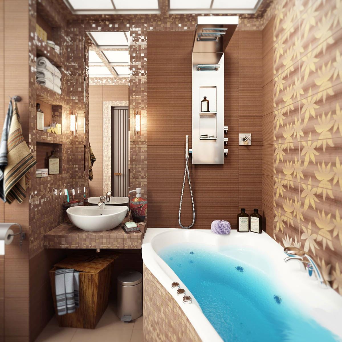 Фото интерьеров ванных комнат в квартире