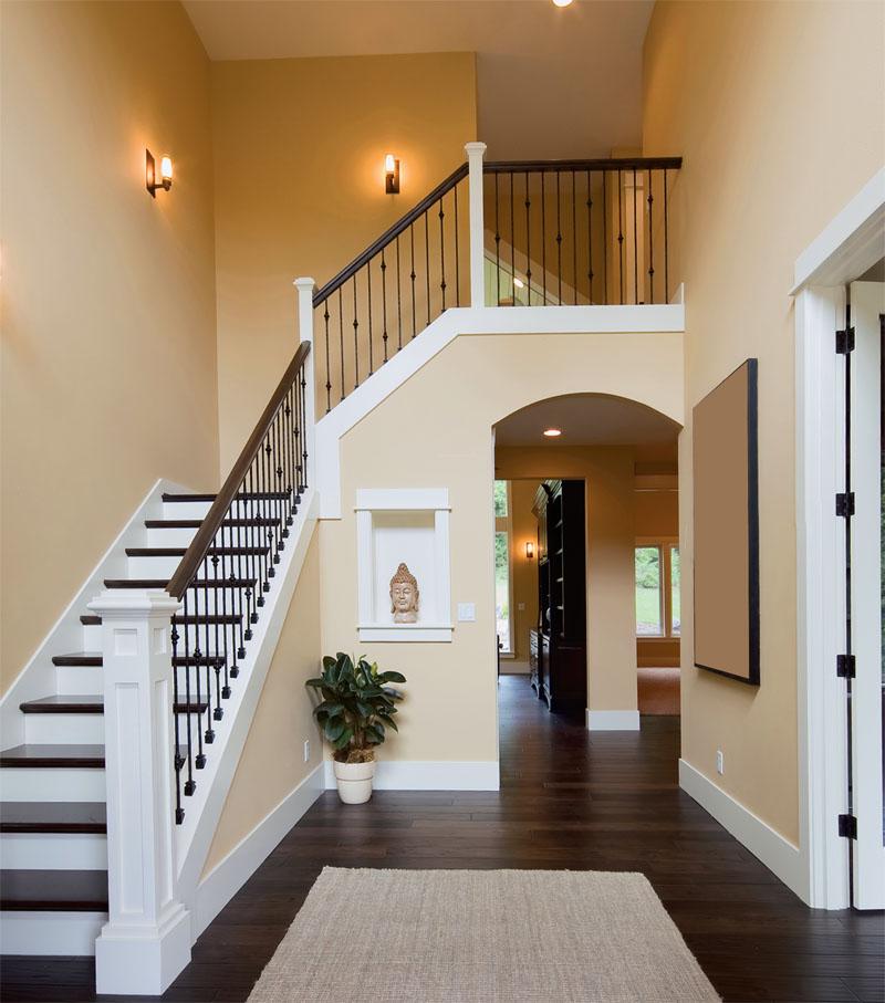 Перила для лестницы в доме фото