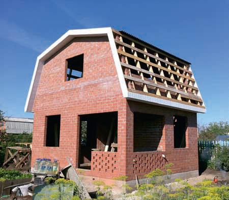 Дачный кирпичный дом своими руками