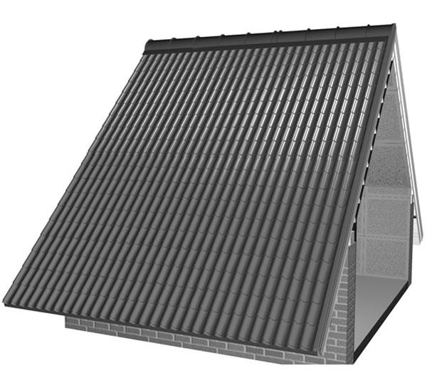 Низ листа металлочерепицы прикрепляется саморезами в подошву волны через волну. Следующие ряды саморезов вкручиваются в шахматном порядке через одну волну. Фото: ТПК