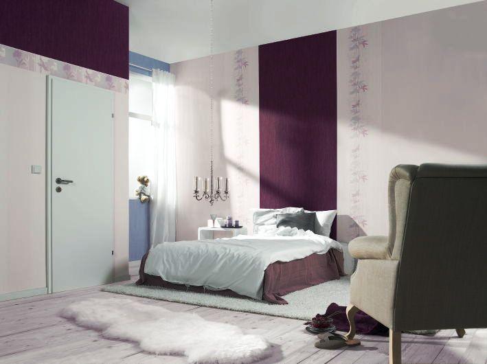 Интерьеры обоев в спальне