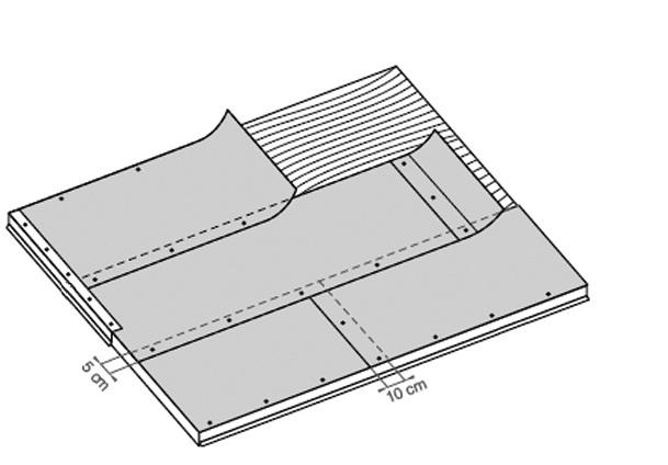 Капельники для карнизов должны заходить на плоскость крыши как минимум на 10 см от края