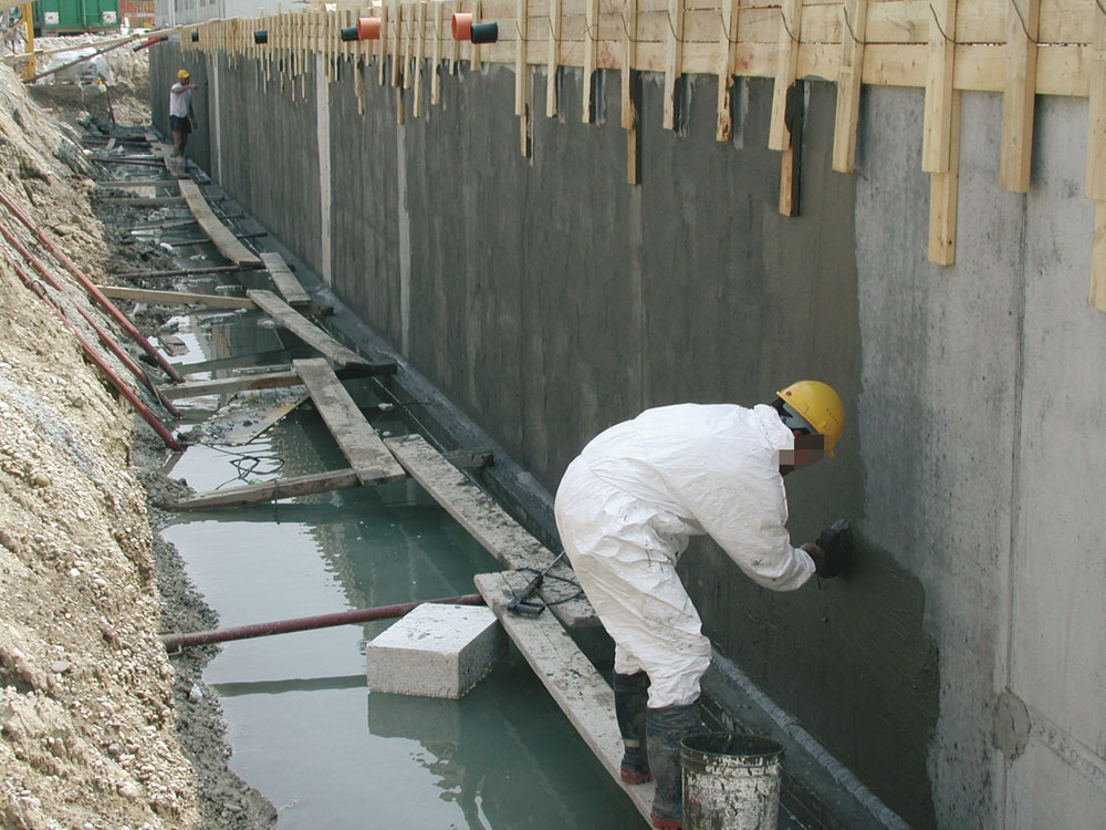 Pictures on request penetrating waterproofing.