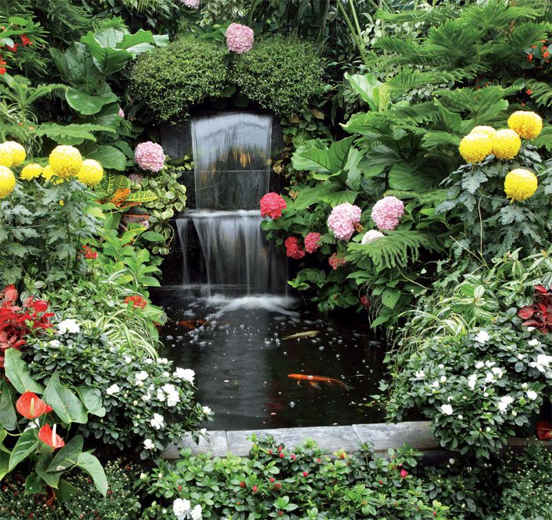 Сделать водопад в саду своими руками