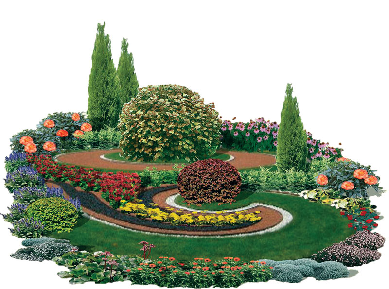 Цветочно-овощное оформление газона на даче