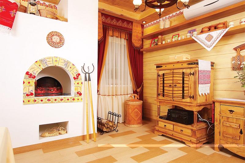 Декор печки в частном доме своими руками 70