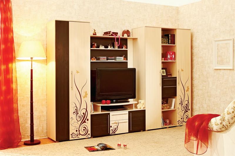 Стенка или стеллаж гостиные мебель