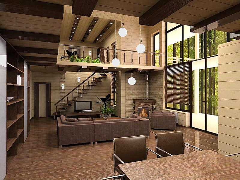 Дизайн проект интерьера загородного