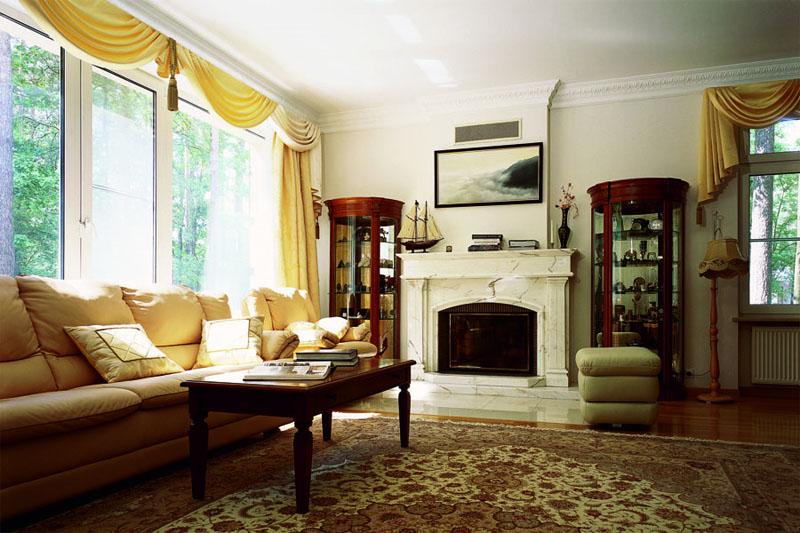 Гостиные мебель с камином фото дизайн