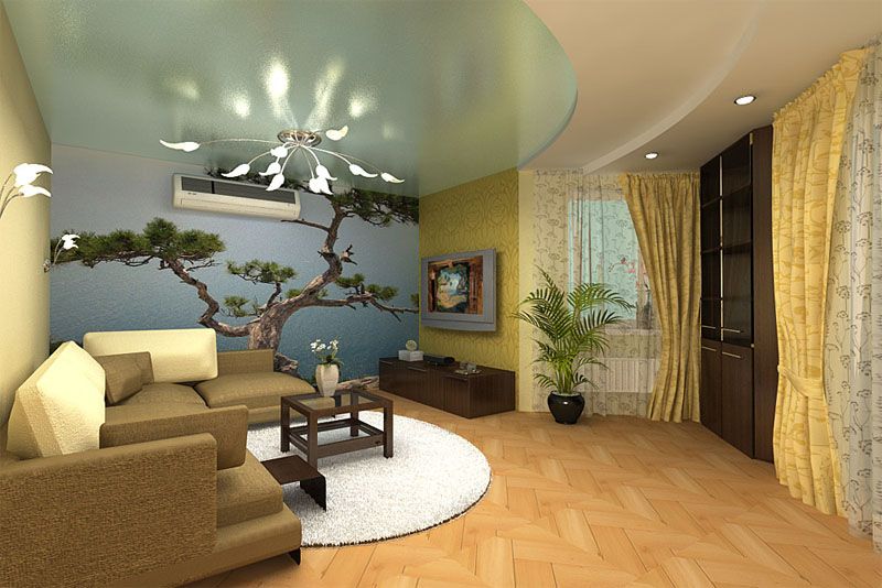 Дизайн гостиной с балконом - идеи и особенности, фото
